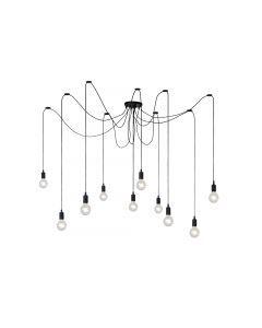 FIX MULTIPLE Hanglamp 10xE27 Zwart