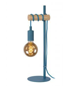 PAULIEN Tafellamp Kinderkamer Ø 15 cm 1xE27 Blauw
