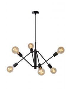 LESTER Hanglamp 6xE27 Zwart