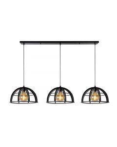 DIKRA Hanglamp Ø 40 cm 3xE27 Zwart