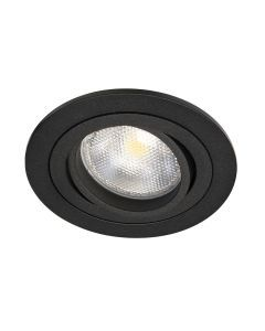 LED-inbouwarmatuur BR0009 Rond card. draai-/kantelbaar GU10 Zwart