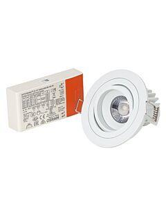 LED-inbouwarmatuur BR0009 Rond draai-/kantelbaar DTW dimbaar Wit