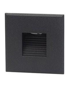 Cover vierkant zwart met rechthoekig gat tbv BW0010 LED-module