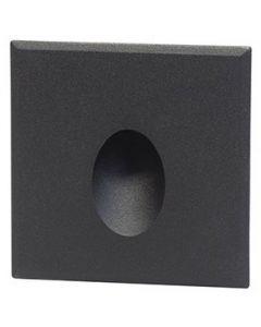 Cover vierkant zwart met rond gat tbv BW0010 LED-module
