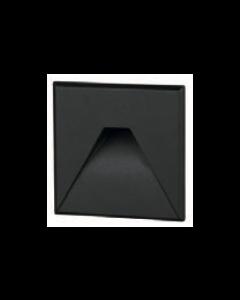 Cover vierkant zwart met design gat tbv BW0010 LED-module