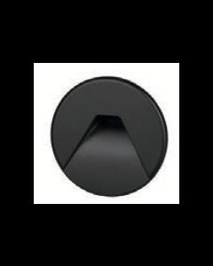 Cover rond zwart met design gat tbv BW0010 LED-module