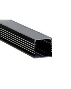 U-profiel 35mm x 35mm - Zwart