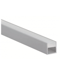 U-Profiel voor IP toepassing inclusief opalen afdekking - Aluminium