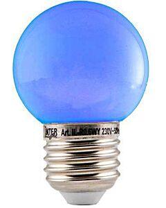 LED Kogellamp 0,6W E27 blauw warm 2.700K 12 LED's